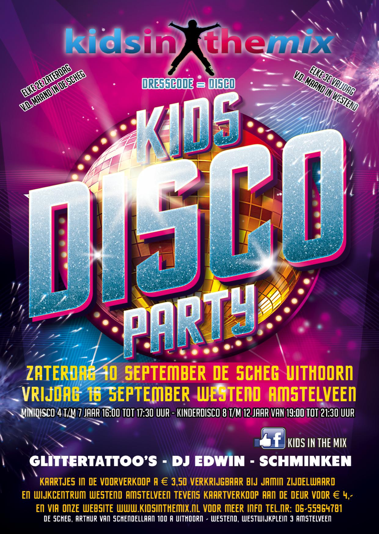 Disco Flyer A6 Drukwerk