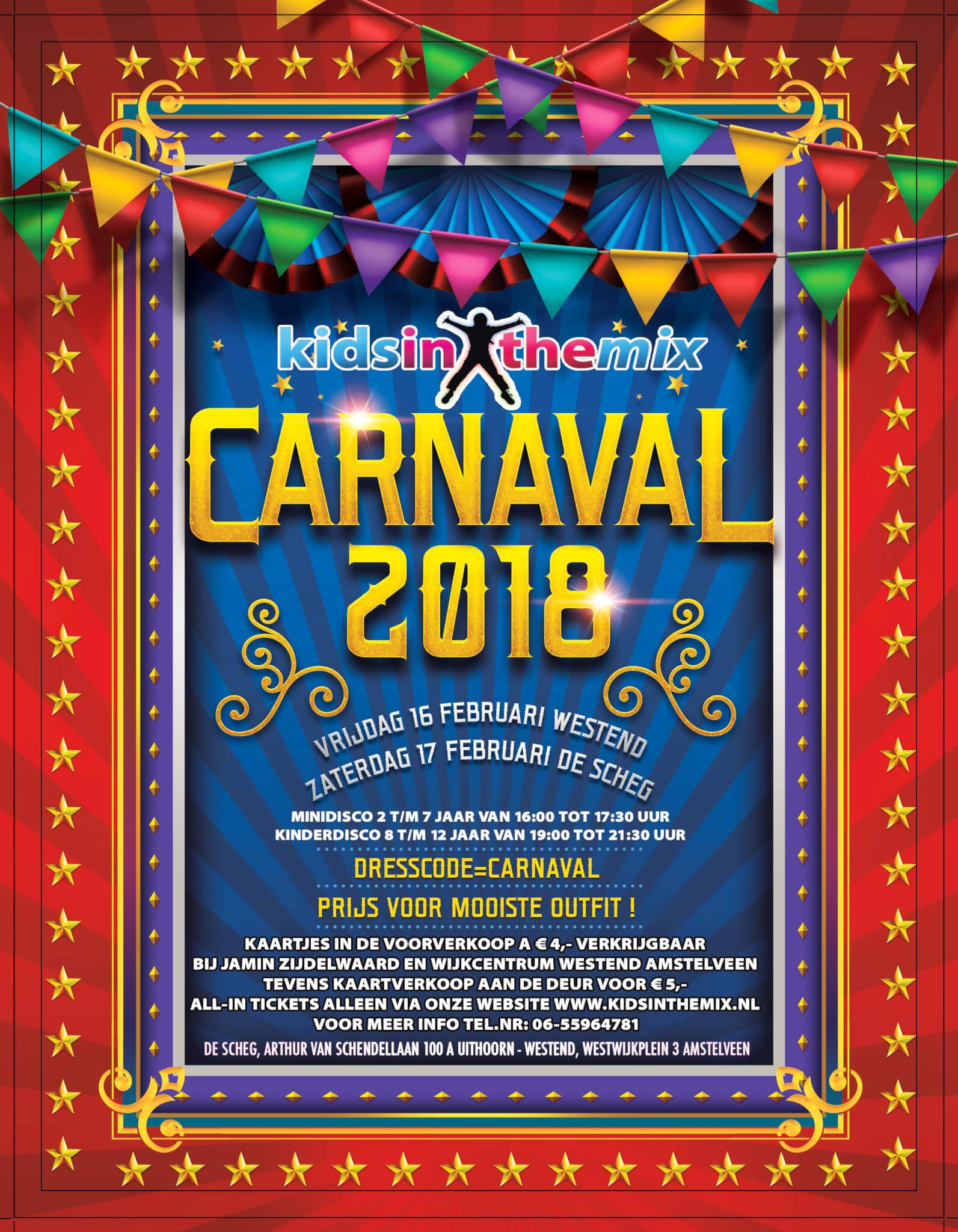 Carnaval 2018 flyer